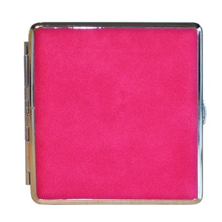 Roze/paars met zilver metaal sigarettendoosje