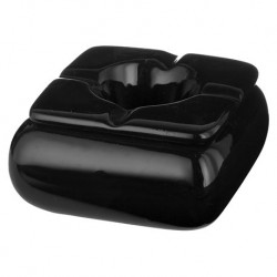 Zwarte keramiek asbak